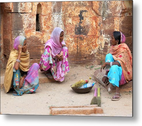 Jodhpur Metal Print featuring the photograph Jodhpur Fort Sweepers by David Rich