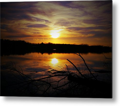 Sunset Metal Print featuring the photograph Lake Sunset by Michael L Kimble