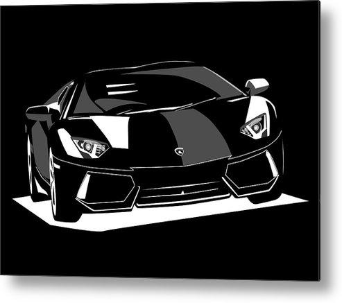 Lamborghini Aventador Metal Print featuring the digital art Lamborghini Aventador by Michael Tompsett