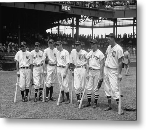 Baseball Metal Print featuring the photograph Legends Row by Mountain Dreams