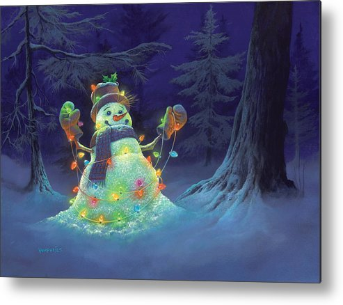 Michael Humphries Metal Print featuring the painting Let It Glow by Michael Humphries
