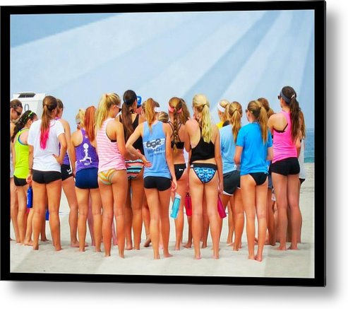 Young Girls Metal Print featuring the photograph Life-guards In Training by Phillip White