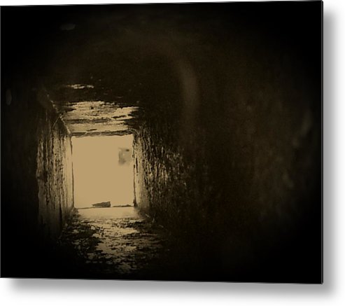 Tunnel Metal Print featuring the photograph Light At The End Of The Tunnel by Jeff Mantz Rhodes
