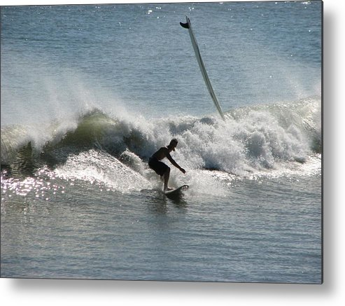 Surf Metal Print featuring the photograph Look Out by Peggy Burley