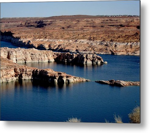 Landscape Metal Print featuring the photograph Lower Level Lake Powell by Martin Micale