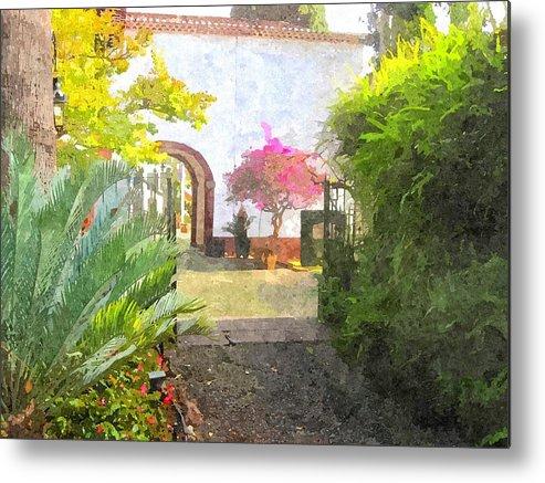 Garden In Madeira Metal Print featuring the digital art Madeira by Brian Sunderland