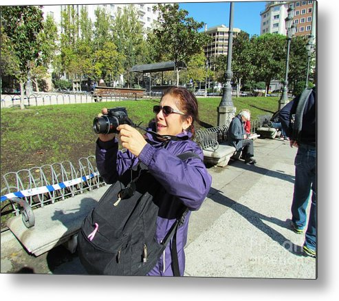 Spain Metal Print featuring the photograph Madrid Betty by Ted Pollard