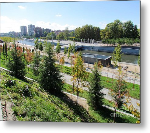 Spain Metal Print featuring the photograph Madrid River Park by Ted Pollard
