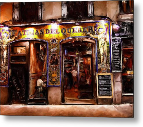 Madrid Metal Print featuring the digital art Madrid Vintage by Cary Shapiro