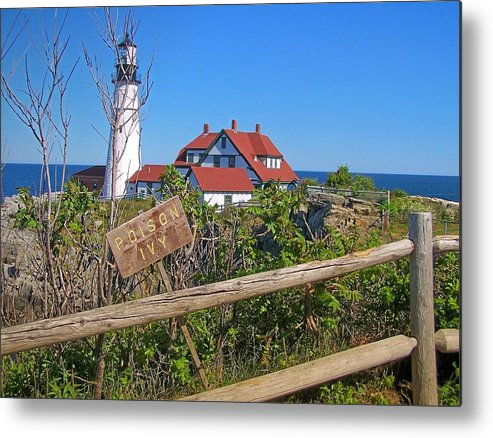 Lighthouse Metal Print featuring the photograph Maine's Portland Head Light by Gene Cyr