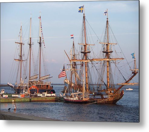 Seascape Metal Print featuring the photograph Majestic Tall Ships by Rosanne Bartlett