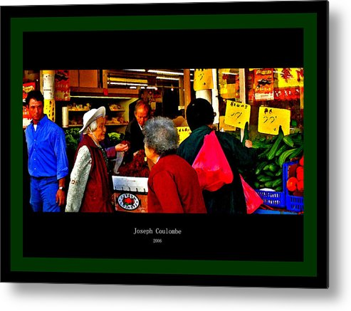 Chinatown Metal Print featuring the digital art Market Day In Chinatown by Joseph Coulombe