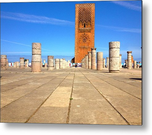 Morocco Metal Print featuring the photograph Mausoleum Of Mohammad V Iv by Hannah Rose