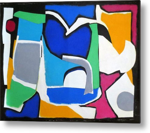 Mixed Media Collage Metal Print featuring the mixed media Melody by Diane Fine