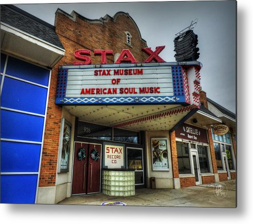 Stax Records Metal Print featuring the photograph Memphis - Stax Records 001 by Lance Vaughn