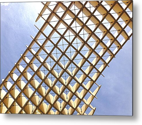 Pattern Metal Print featuring the photograph Metropol From Below by Hannah Rose