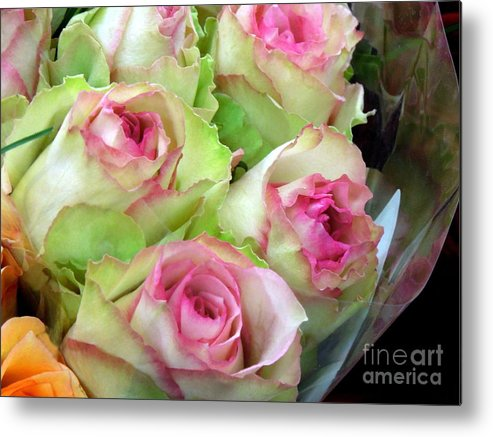 Rose Metal Print featuring the photograph Mint Julep Bouquet by Renee Trenholm