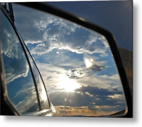 Mirror Metal Print featuring the photograph Montana Behind Us by Christina Jo Horton