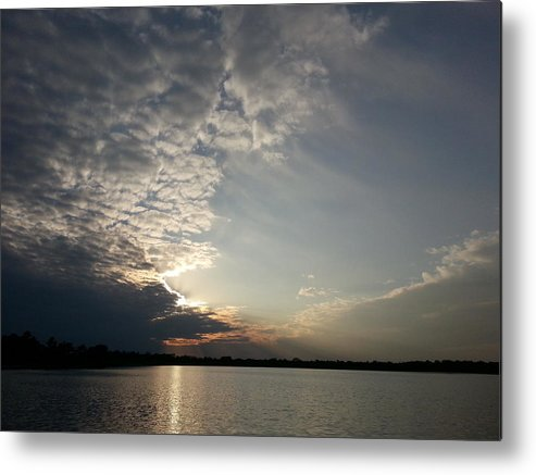 Lake Metal Print featuring the photograph Moody Sunset by Caryl J Bohn