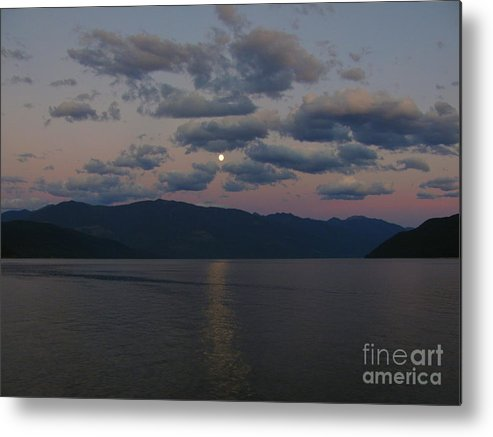 Kootenay Metal Print featuring the photograph Moon On The Lake by Leone Lund
