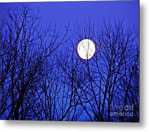 Moon Metal Print featuring the photograph Moon by Sarah Loft