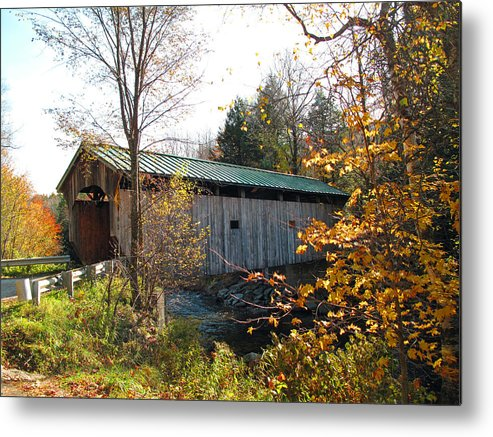 Covered Bridge Metal Print featuring the photograph Morgan Bridge 2 by Barbara McDevitt
