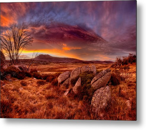 2013 Metal Print featuring the photograph Morning Clouds Over Jugungal by Robert Charity