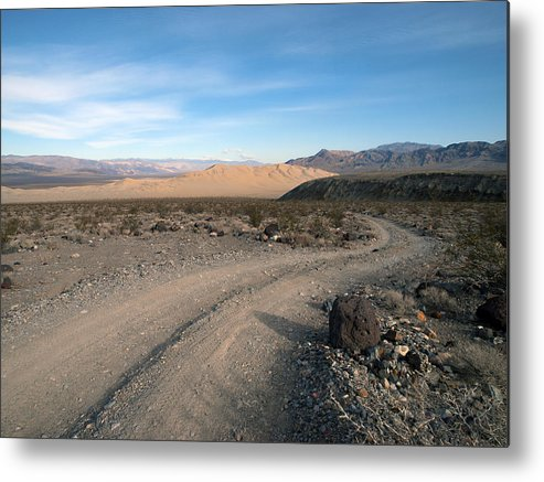 Death Valley Metal Print featuring the photograph Morning On Steele Pass by Joe Schofield