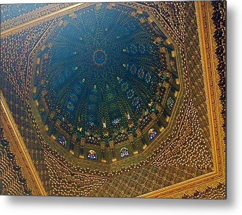 Morocco Metal Print featuring the photograph Moroccan Mausoleum Dome by Hannah Rose