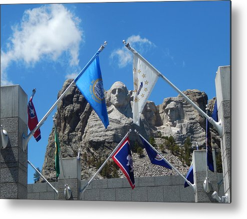Mount Metal Print featuring the photograph Mount Rushmore by Laura Elder