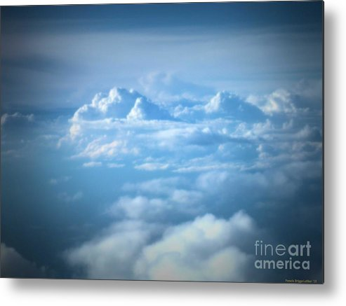 Clouds Metal Print featuring the photograph Mountains Of Clouds by Luther Fine Art