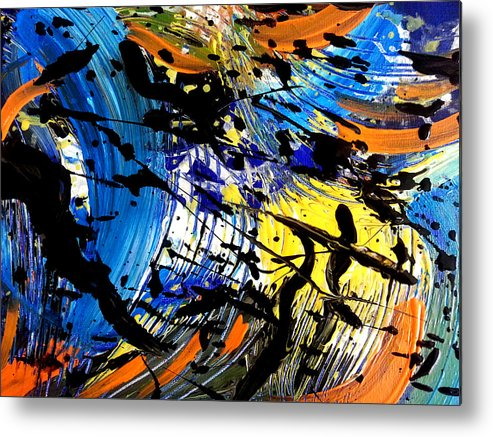 Abstract Metal Print featuring the painting Musical Cadences by Nikki Dalton