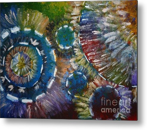 Acrylic Metal Print featuring the painting My Life by Andrea Bush