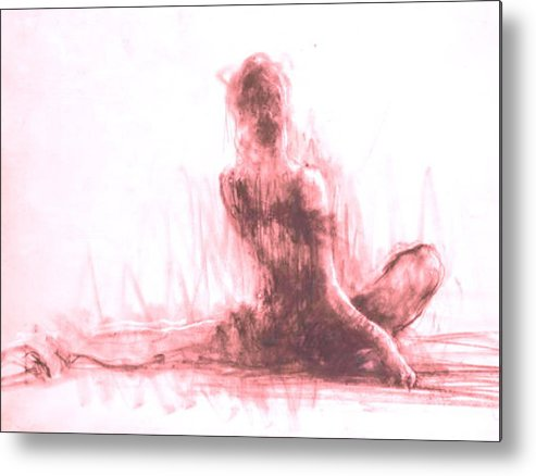 Balet Metal Print featuring the painting My Private Dance by Elena Zolevskaya
