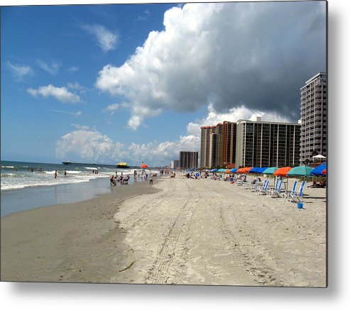 Hotel Metal Print featuring the photograph Myrtle Beach South Carolina by Joseph Madison