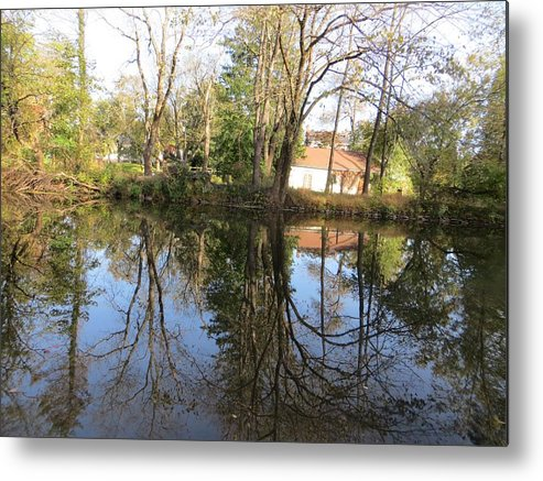 Reflection Metal Print featuring the photograph Natural Mirror by Sonali Gangane