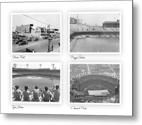Baseball Metal Print featuring the photograph Navin Field Briggs Tiger Stadium Comerica Park by John Farr
