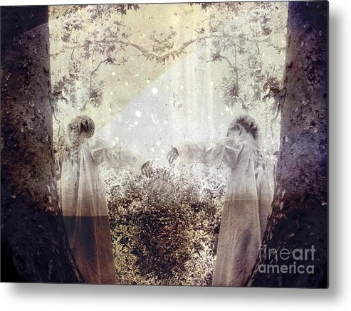 Fantasy Metal Print featuring the photograph Never Grow Up by Ellen Cotton