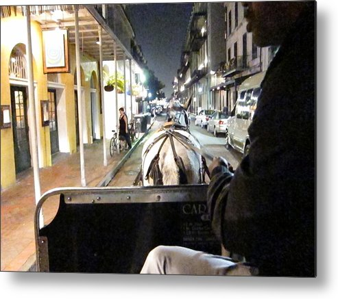 New Metal Print featuring the photograph New Orleans - City At Night - 121212 by DC Photographer