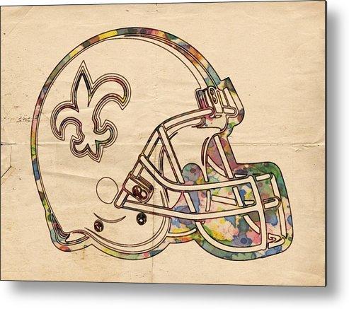 New Orleans Saints Logo Vintage Metal Print