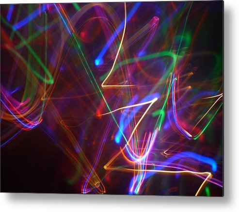 Abstract Light Photography Metal Print featuring the photograph Night Shades by Sheldon Landa