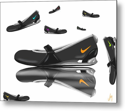 Digital Metal Print featuring the painting Nike by Veronica Minozzi