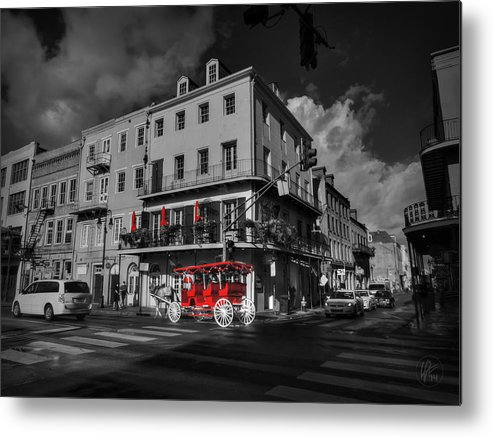 New Orleans Metal Print featuring the photograph Nola - French Quarter 003 Ck by Lance Vaughn