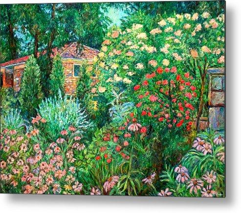 Garden Metal Print featuring the painting North Albemarle In Mclean Va by Kendall Kessler