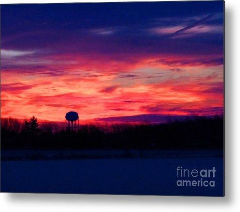 Sun Metal Print featuring the photograph November 28 2014 Sunrise by Tina M Wenger
