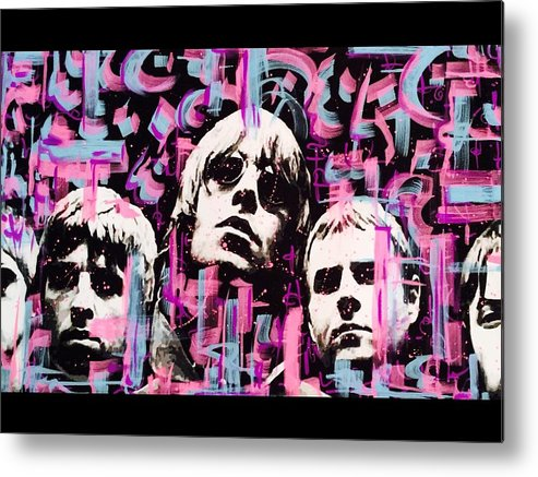Oasis Metal Print featuring the mixed media Oasis by Lowkey Luciano