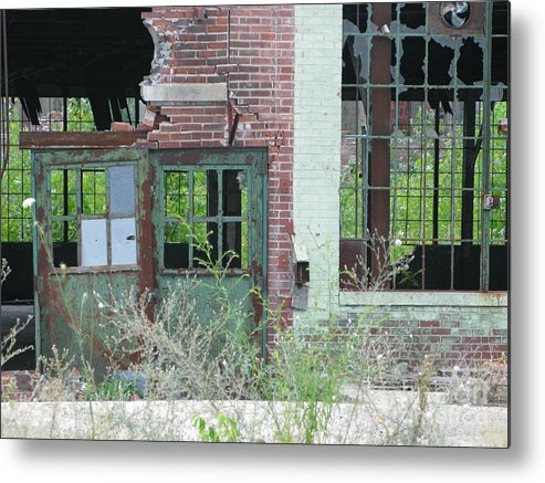 Factory Metal Print featuring the photograph Obsolete by Ann Horn