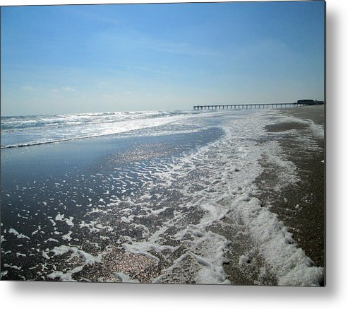 Ocean Metal Print featuring the photograph Ocean Foam by Silvie Kendall