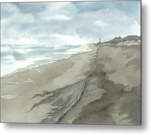Obx Metal Print featuring the painting Old Hatteras Light by Joel Deutsch