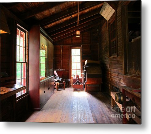 Bristol Metal Print featuring the photograph Old Machinery by Tina M Wenger